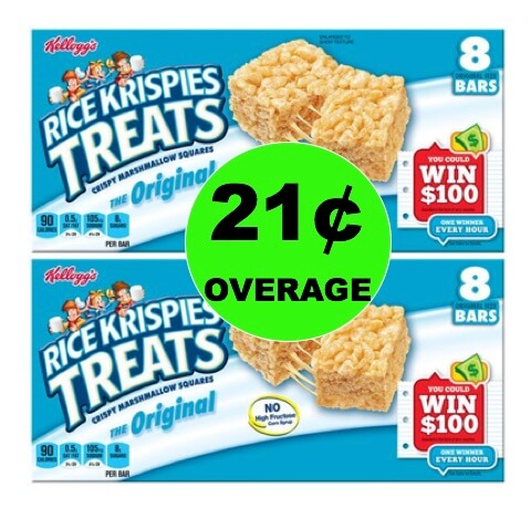 FREE + 21¢ Overage on Kellogg's Rice Krispie Treats at Winn Dixie! (2/7-2/13)