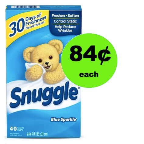 PRINT NOW for 84¢ Snuggle Dryer Sheets at Walmart!