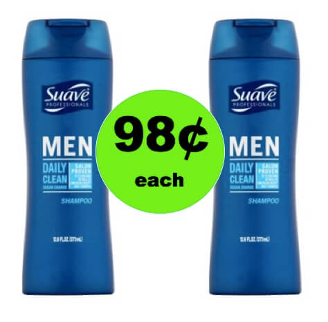 Your Guys Will Look Great with 98¢ Suave Mens Shampoo at Walmart! (Ends 3/11)