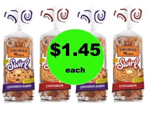 Enjoy Thomas Swirl Bread Only $1.45 Each at Winn Dixie! (Ends 2/6)