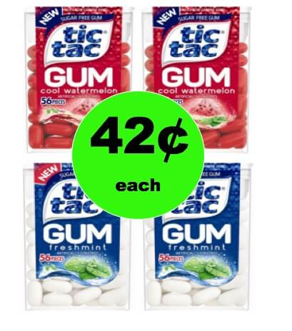 Even Cheaper! Tic Tac Gum ONLY 42¢ Each at Target (at Walmart too)! (Ends 3/24)