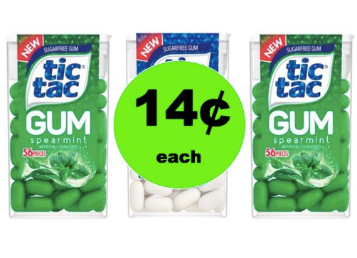 Try Something New with 14¢ Tic Tac Gum at Walmart!