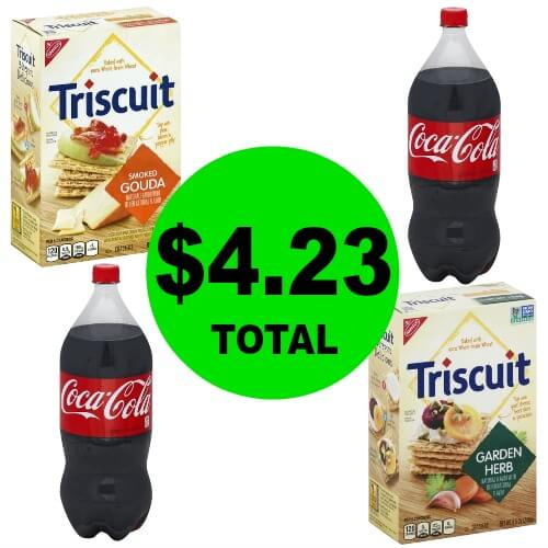 Grab a Snack & Drink! Get Coke 2 Liters & Nabisco Triscuit Crackers for $1.06 Each at Publix! (Ends 2/27 or 2/28)