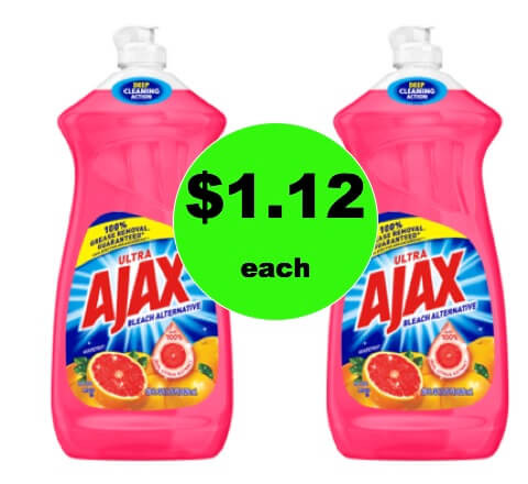 Dirty Dishes Be Gone with $1.12 Ajax Dish Soap BIG Bottles at Walmart! (Ends 2/10)
