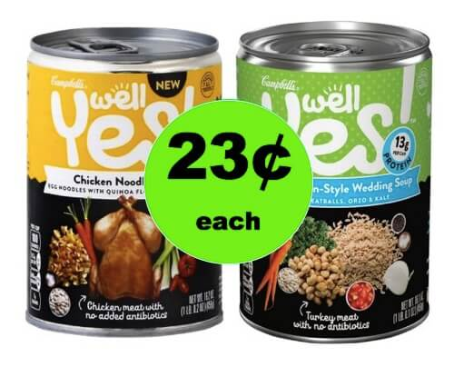 Eat Healthy with 23¢ Campbell's Well Yes! Soups at Walgreens! (Ends 3/3)