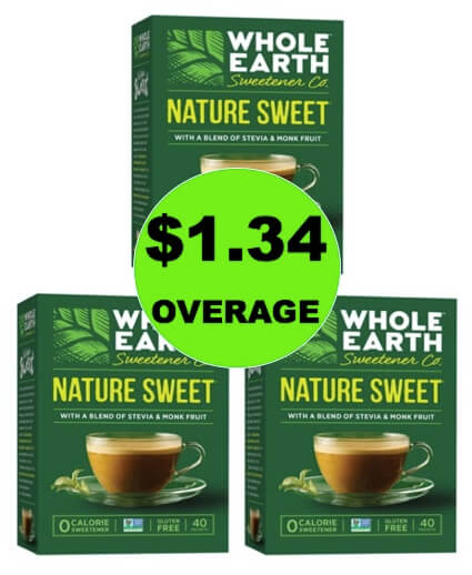 THREE (3!) FREE + $1.34 OVERAGE on Whole Earth Sweetener at Target (at Publix too)! (Ends 2/21)