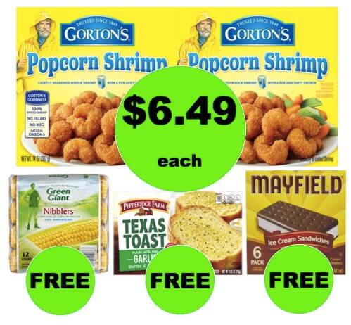 Winn Dixie Meal Deal: Buy (2) Gorton's Fish Sticks, Fish Portions or Large Popcorn Shrimp for $12.98, Get FREE Frozen Veggies, Garlic Toast and Ice Cream! (2/21-2/27)
