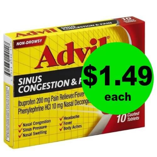 Grab Advil Sinus Congestion & Pain Medicine for $1.49 Each (Save $5) at Publix! (Ends 3/24)