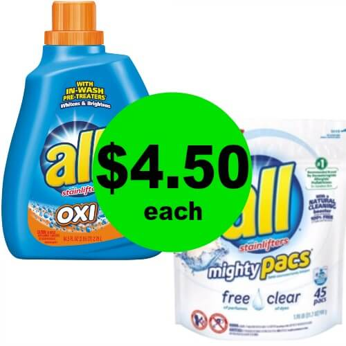 Wash for Cheap with All Mighty Pacs Just 10¢ Per Pac at Publix! (Ends 4/3 or 4/4)