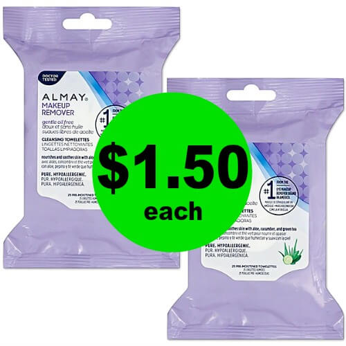Deep Clean Your Face & Remove Your Makeup with $1.50 Almay Makeup Remover Towelettes at CVS! (3/11 – 3/17)