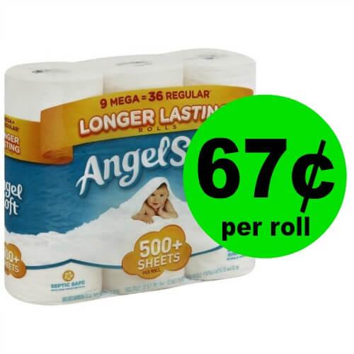 Stock Up! Angel Soft Bathroom Tissue JUST 67¢ Per Mega Roll at Publix! (Ends 3/6 or 3/7)