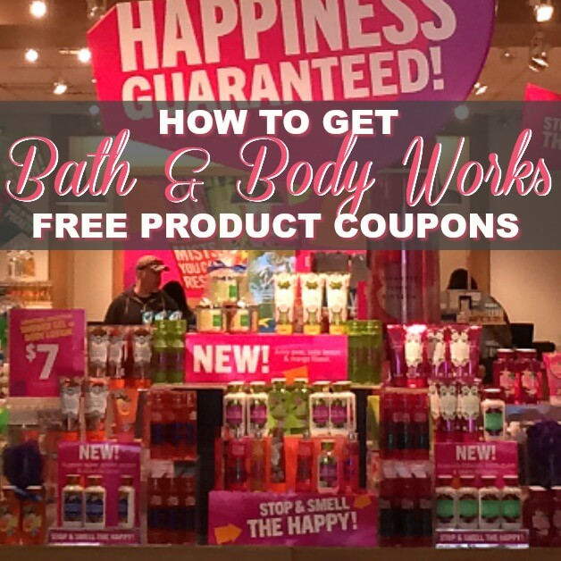 How To Get Bath & Body Works Coupons For FREE Products