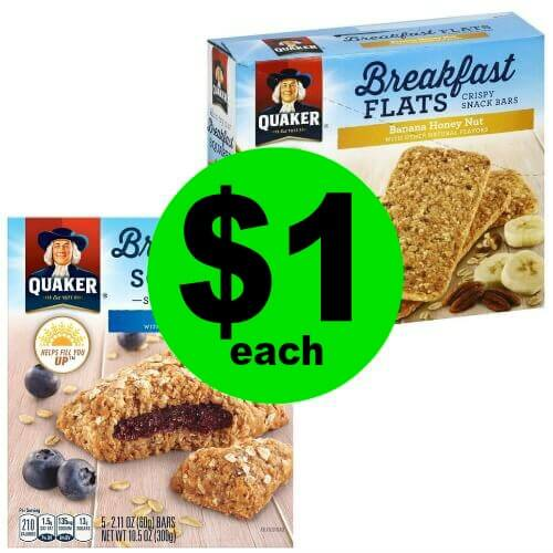 Breakfast on the GO! Pick Up Quaker Breakfast Flats or Squares for $1 Each at Publix! (3/31 – 4/13)