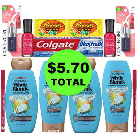 For Only $5.70, Get (1) Toothpaste, (2) Candies, (4) Hair Care, & (6) Cosmetics at CVS! (3/25 – 3/31)