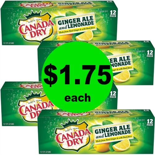 Stock Up on Canada Dry Ginger Ale and Lemonade 12 Packs for $1.75 Each at Publix! (Ends 4/3 or 4/4)