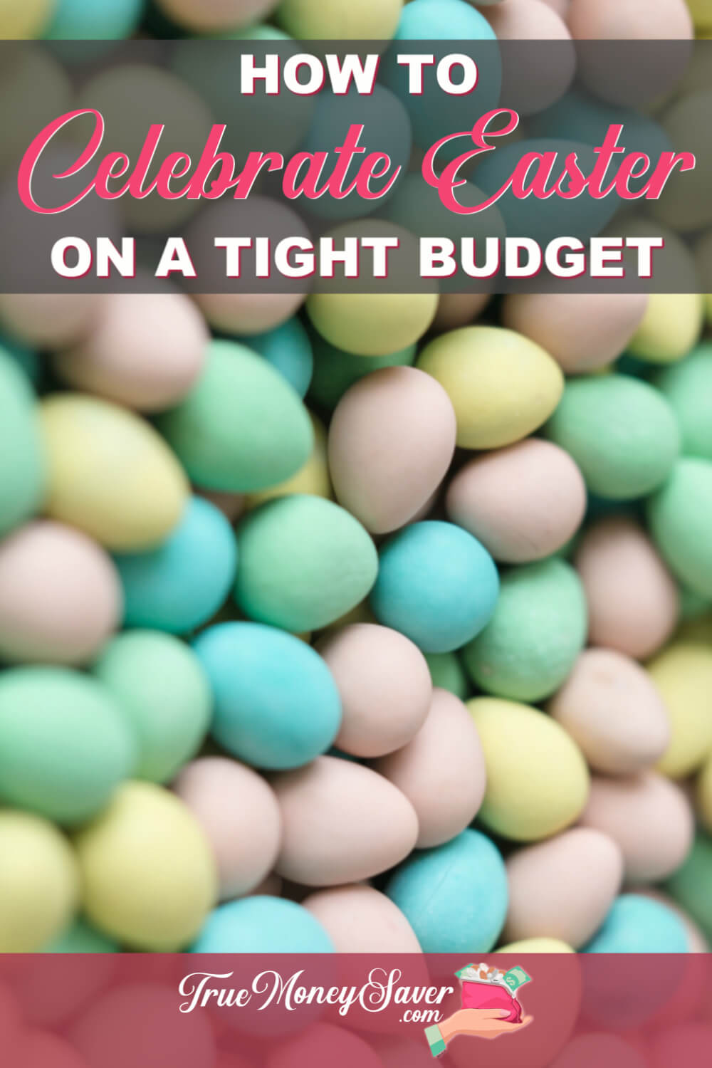 Celebrating Easter doesn\'t have to drain your bank account! Use these frugal Easter ideas and money-saving tips to make these best Easter ever! Plus, learn how to get the best kids Easter outfits for church. And, use these frugal Easter basket ideas to save more money! #truecouponing  #savingmoney  #easterfun  #budgeting  #debtfree #easter #frugal #frugaleaster #frugaleastergiftideas #frugaleasterbasket #easteroutfit #easteroutfits #easteroutfitideas #cheapeaster