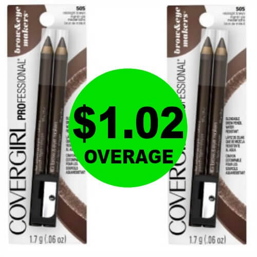 TWO (2!) FREE + $1.02 OVERAGE On CoverGirl Brow & Eyemakers Eyeliners at CVS! (Ends 3/31)