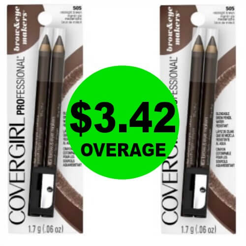 (NLA!) PRINT Now For TWO (2!) FREE + $3.42 OVERAGE On CoverGirl Brow & Eyemakers Eyeliners at CVS! (4/1-4/7)