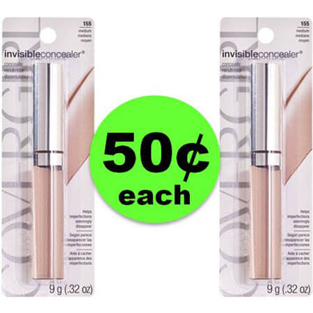 PRINT Now for 50¢ CoverGirl Invisible Concealer at CVS! (3/11 – 3/17)