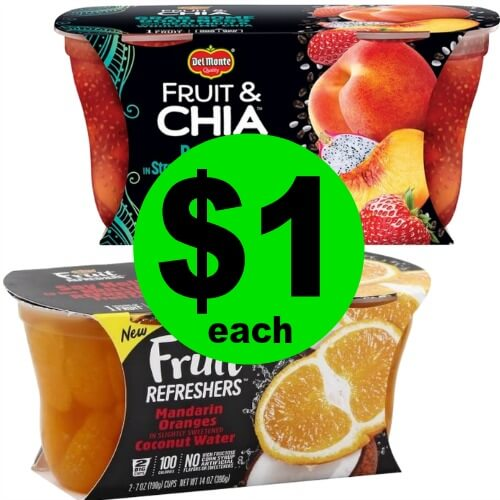 Lunch Box Stock Up! Nab $1 Del Monte Fruit Bowls at Publix! 4/2 – 4/4 (or 4/2 – 4/3)
