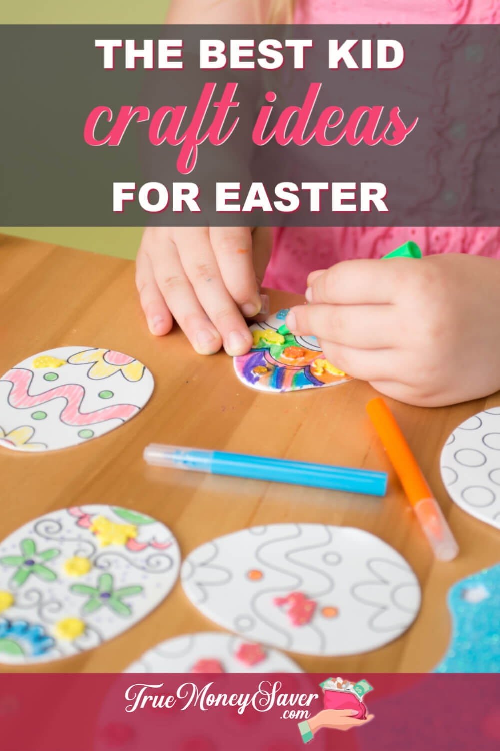 Need some easy kids Easter crafts? I\'ve got you covered with the best kid\'s Easter crafts ideas! Plus, these DIY easy kid\'s crafts ideas are super cheap and super fun too! Let\'s get started crafting! #truemoneysaver #kidcrafts #eastercraft #eastercrafts #eastercraft #eastercraftsforkids #eastercrafting #kidcraft #kidcraftideas #kidcrafters #kidscrafting #kidscraft #kidscrafts #kidscraftideas #kidscrafting