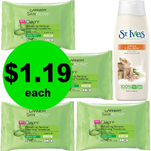 Refresh Your Face and Body with Garnier Facial Wipes & St. Ives Body Wash for $1.19 Each at Publix! (Ends 3/23)