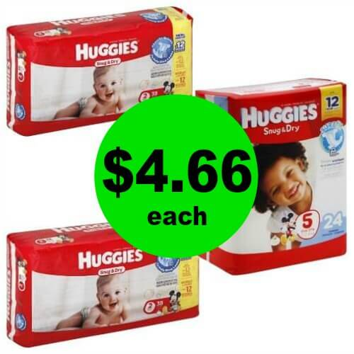 Hey Mama! Grab $4.66 Huggies Jumbo Pack Diapers at CVS! (3/25 – 3/31)