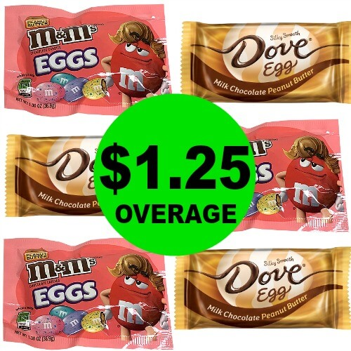 (Update: NLA) SIX (6) FREE + $1.25 OVERAGE on Dove Eggs & M&M's Eggs Singles at CVS! (Ends 3/17)