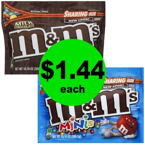 Who Needs Chocolate?! Snag M&M's Chocolate Candies Sharing Size for $1.40 Each at Publxi! (Ends 3/13 or 3/14)