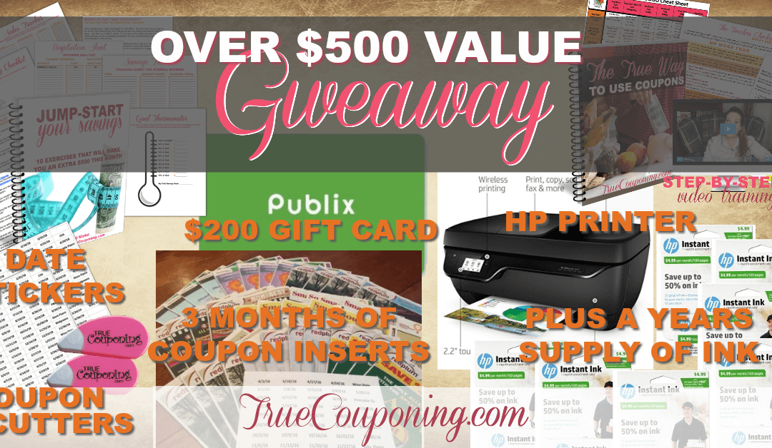 Become A Master Couponer With This CRAZY GIVEAWAY Valued OVER $500!