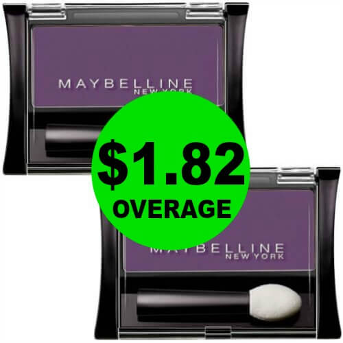 TWO (2!) FREE + $1.82 OVERAGE on Maybelline Eye Shadow at CVS! PRINT Now! (Ends 3/10)