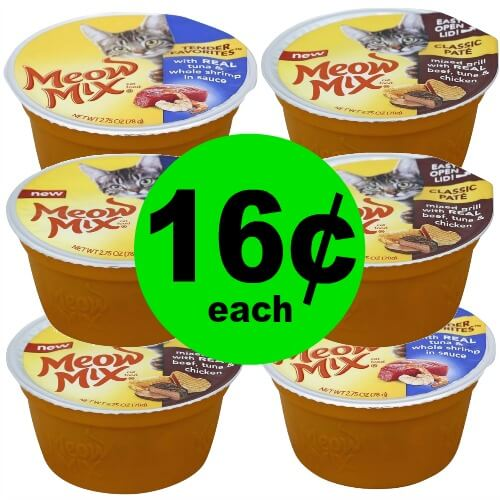 Kitty Mommies! Go Grab 16¢ Meow Mix Wet Food Cups at Publix! (Ends 3/29)