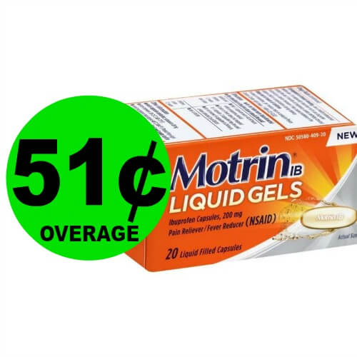 Pick Up Your FREE + $.51 OVERAGE on Motrin IB Liquid Gels at Publix! (Ends 3/23)