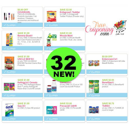 WHOA! There Are NOW Thirty-Two (32!) NEW Coupons This Week! Save on CoverGirl, Enfagrow, Banana Boat & More!