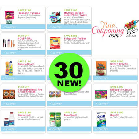 YOWZA! There Are NOW Thirty (30!) NEW Coupons This Week! Save on Mars Candy, CoverGirl & More!