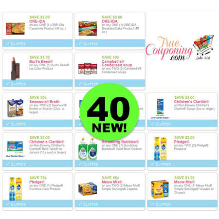 WAHOO! There Are NOW Forty (40!) NEW Coupons This Week! Save on Ore-Ida Meals, Burt's Bees Lipstick & More!