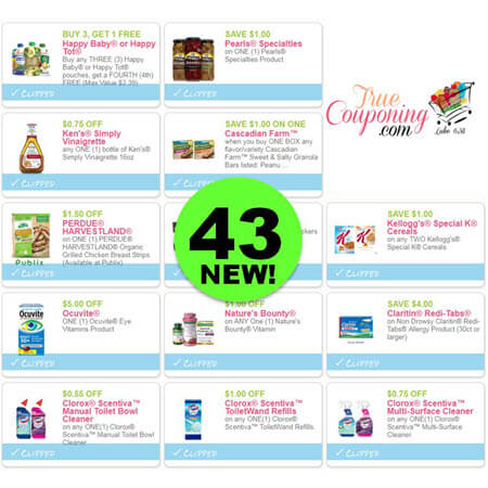WOW! There Are Forty-Three (43!) NEW Coupons Out Today! Save on Kellogg's, Claritin, Clorox & More!