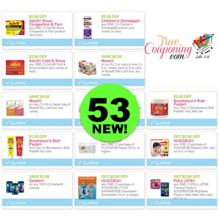 YOWZER! Fifty-Three (53!) NEW Coupons Just Came Out! Save on Advil, Dimetapp, Muse Cat Food & More!