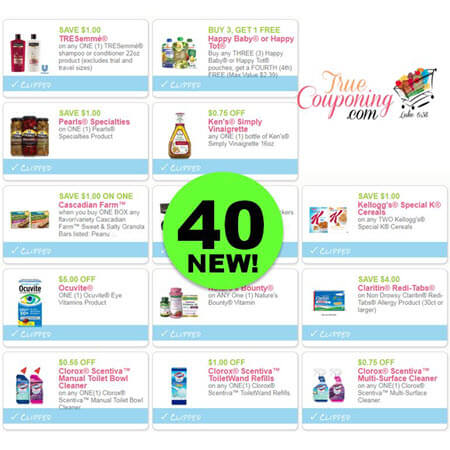 WOOHOO! There Are Forty (40!) NEW Coupons Out This Week! Save on Tresemme, Schick & Suave!