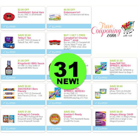 Did You SEE The Thirty-One (31!) NEW Coupons Out This Week?! Save On Smithfield Ham, Entenmann's, Tetley Tea & More!