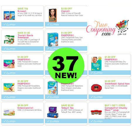 YAHOO! There Are Thirty-Seven (37!) NEW Coupons Out This Week! Save On Pampers, Truvia, 9Lives & More!