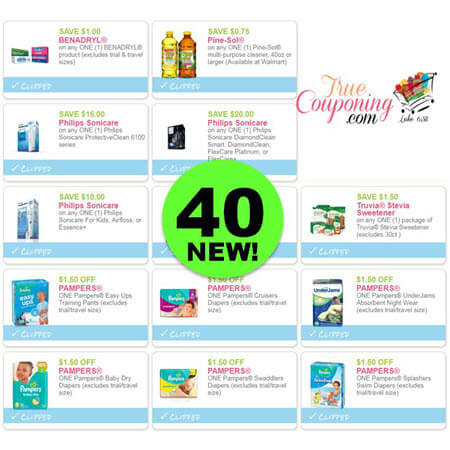HURRAH! There Are Forty (40!) NEW Coupons Out This Week! Save On Sonicare, Benadryl, Pine-Sol & More!