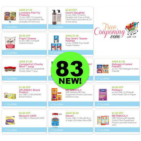 NOW There's Eighty-Three (83!) Coupons Out This Week! Print NOW for Carol's Daughter, Kellogg's, Aleve & More!