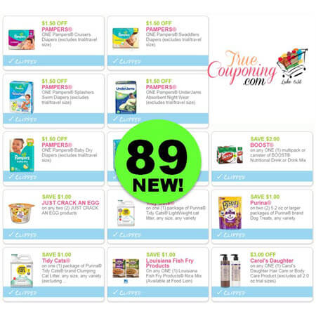 WHAT?!! NOW There's Eighty-Nine (89!) NEW Coupons Out This Week! Save on Pampers, Tidy Cats, Boost & More!