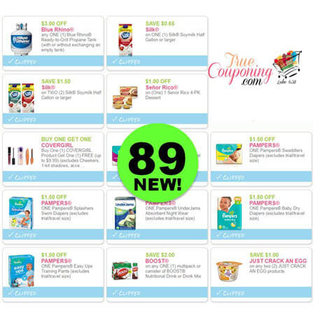 WOW! NOW There's Eighty-Nine (89!) NEW Coupons Out This Week! Save on Silk, CoverGirl & More!