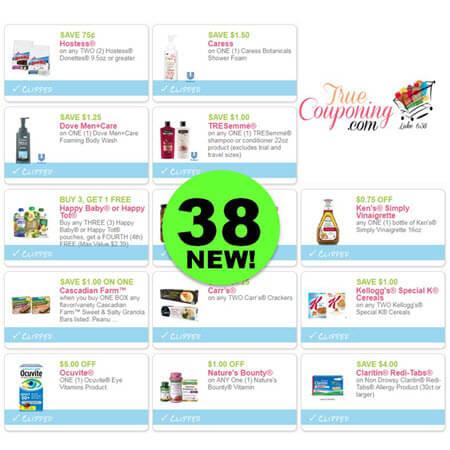 YOWZER! There Are Thirty-Eight (38!) NEW Coupons Out This Week! Save on Hostess, Caress, Dove & More!