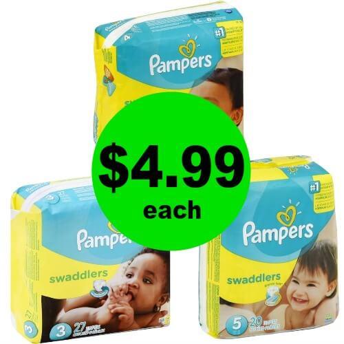 Hey Mamas! Grab Pampers Diaper Jumbo Packs for $4.99 Each at CVS! (3/11 – 3/17)