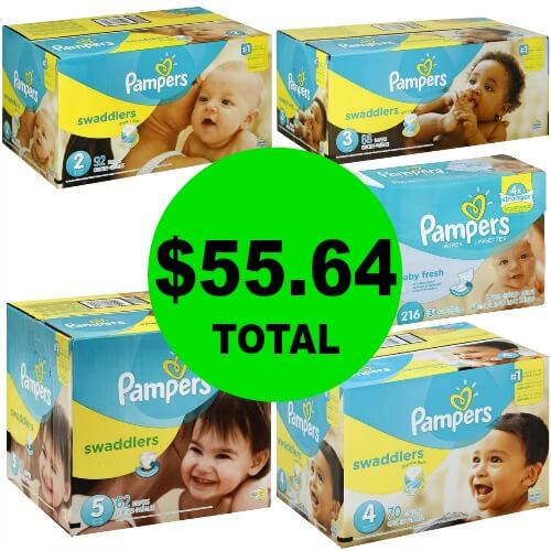 For Just $55.64, Get (2) Pampers Baby Wipe Refills & (4) Pampers Diaper Boxes at Publix! (3/7-3/10 or 3/8-3/10)