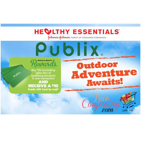 Publix Health & Beauty Rewards is BACK! FREE $10 Gift Card wyb $30 of Johnson & Johnson Products! (Ends 4/28)