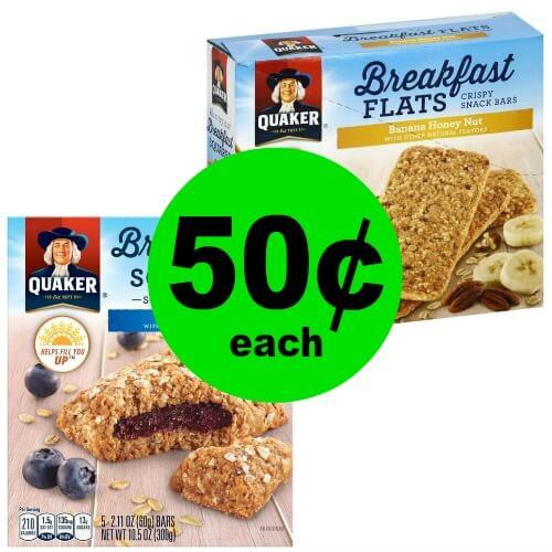 Snag 50¢ Quaker Breakfast Flats or Squares at Winn Dixie! (Ends 4/17)